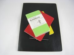 I use the small pocket notebook version of these. The paper is made of bamboo, and has a nice, tactile feel. The covers are flexible and can be wiped off easily, and hold up well to actually being carried in your pocket. The ones I like come in a four pack of yellow, bright green, black and a very close to primary red. A friend gave me a red one for Christmas this year and I'm using it for haiku. I still like Moleskine for a full-sized journal . . . these little ones are far better to the soft covered Moleskines by a wide margin. Inexpensive and a great feel, and its fun to know that because they are made from sustainable bamboo, too - its nice to be green!