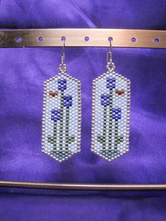 Beaded Lavendar / Allium Flowers with Butterfly by Ringallure