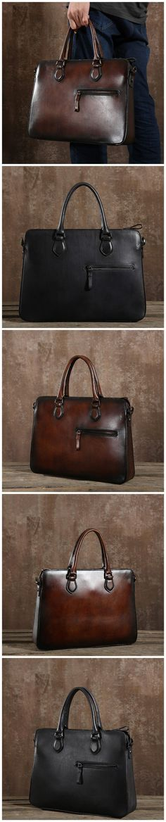 5e9dbd8c20e Vegetable Tanned Leather Men Tote Bag Handmade Men Messenger Bag Retro  Shoulder Bag G8054