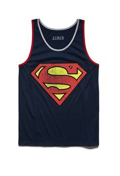 Cotton-Blend Superman Tank | 21 MEN Tag your superman #21Men #Graphic