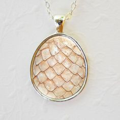 White Dragon Egg Pendant Dragon Necklace Game of por MysticPendants