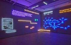 new york's sean kelly gallery is activated by a major installation of neon works by renowned conceptual artist joseph kosuth.