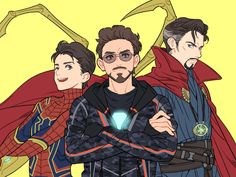 Spiderman Iron Man Doctor Strange