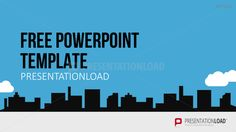 Plantilla PowerPoint gratuita - Perfil urbano