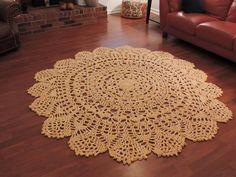 Extra Large Crochet Doily Lace Rug Soft Buttery by EvaVillain