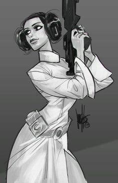 Star Wars - Princess Leia by Mel Milton *
