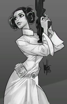 Star Wars - Princess Leia by Mel Milton *