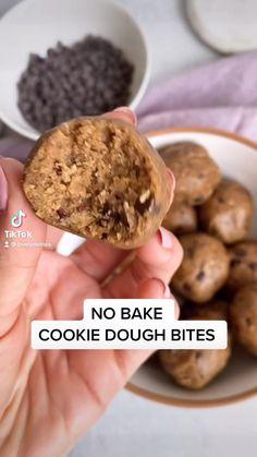 Raw Vegan Recipes, Vegan Dessert Recipes, Sweets Recipes, No Bake Desserts, Baking Recipes, Cookie Recipes, Vegan Food, Paleo, No Bake Cookie Dough