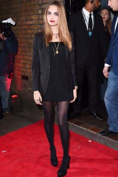 Cara Delevingne - YSL Loves Your Lips party, London – January 20 2015