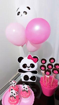Decoração panda  Mêsversário Mariah 07 Meses Panda Themed Party, Panda Birthday Party, Panda Party, Twin Birthday, Minnie Birthday, Baby First Birthday, First Birthday Parties, Birthday Party Decorations, First Birthdays