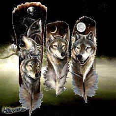 native pictures photo: by native american art and graphic Wolf Painting, Feather Painting, Feather Art, Feather Crafts, American Indian Art, Native American Art, American Indians, Anubis, Scouts