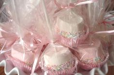 dipped marshmallows in paper cupcake liners