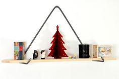 étagère suspendue - bois / métal  ambiance scandinave  l'atelier urbain