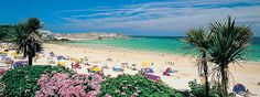 Porthminster Beach, St Ives, Cornwall - this does not look like a place in England! Cornwall England, St Ives Cornwall, Devon And Cornwall, Cornwall House, Best Beaches In England, Uk Beaches, Beach Images, Beach Photos, St Ives Beach