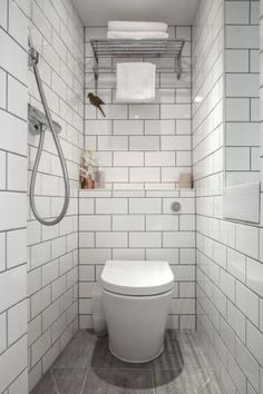 wet room tiny bathroom - Adelina Iliev / McCrum Interiors / Houzz.com