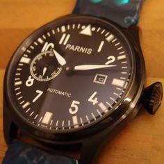 Parnis Pilot I Black PVD - Click to enlarge image