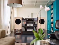 RA in a beautiful setup Floor Standing Speakers, Space Place, Speaker Design, Hifi Audio, Relax, Interior, Inspiration, Woodworking Ideas, Collections