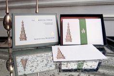 The Oriental Tower correspondence cards