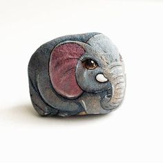 Elefante pittura di pietra. Opere d'arte originali per i