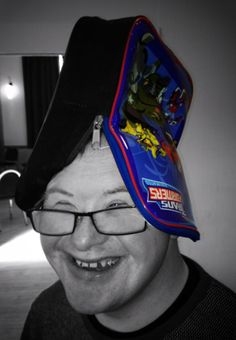 Some lunch time silliness. What a wonderful hat!