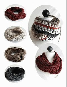 30-Minute Infinity Scarves pattern by Maggie Weldon… Must learn how to knit. | REPINNED