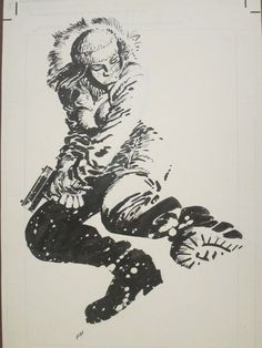 Frank Miller's Whiteout cover Comic Art