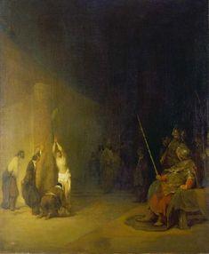 Aert de Gelder - Christus an der Geißelsäule Rembrandt, Christian Art, Catholic, Religion, 18th Century, Painting, Lord, Baroque, Holland