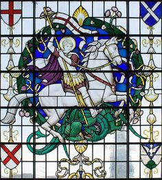 St. George and the Dragon stained glass window