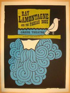 2011 Ray Lamontagne - LA Silkscreen Concert Poster by Methane