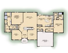 Ridgewood Dual Suite model. Schumacher Homes. Don't need all the space but can be template for dual 1st fl master suites.