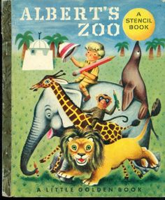 ''Albert's Zoo'', illus. by Richard Scarry. 1951 Little Golden Book | eBay
