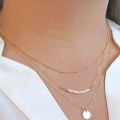 Selling this Delicate Layered Necklace on Poshmark! My username is: achile. #shopmycloset #poshmark #fashion #shopping #style #forsale #Jewelry