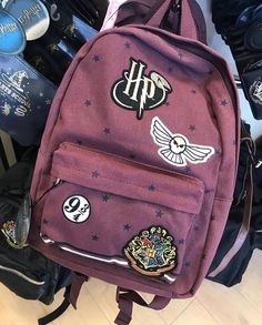 333036e005 Primark Harry Potter Platform 9 3 4 Hedwig Ladies Backpack Patches Rucksack  New