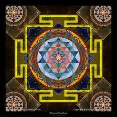 Original Mandala YANTRA Spiritual Art Psy Art print on by Pumayana, $33.00
