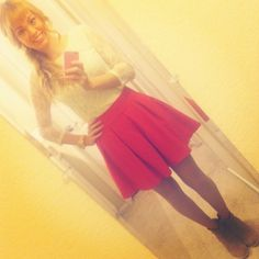 Forever 21 Lace Shift Dress, Forever 21 Hot Pink Skirt, Asos Camel Ankle Booties