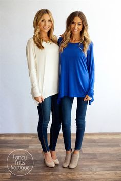 Fall Asymmetrical Women's Tunic! Such a comfortable and effortless closet staple - dress up or down! | $14.99 on Jane.com