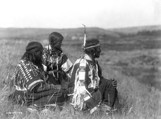 Piegan overlooking the camp. 1910. Photo by Edward S. Curtis.