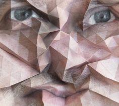 Les créations de l'artiste autrichienAldo Tolino, qui transforme de simples portraits photographiques en de fascinants paysages aux reliefspolygonaux. Aldo