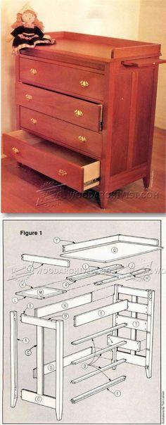 Baby Dresser Plans - Children's Furniture Plans and Projects   WoodArchivist.com