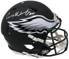 Carson Wentz Philadelphia Eagles Fanatics Authentic Autographed Riddell Black Matte Alternate Speed Authentic Pro-Line Helmet Nfl Football, College Football, Football Helmets, Football Memorabilia, Carson Wentz, The Godfather, Philadelphia Eagles, Sports, Things To Sell