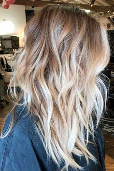 40 blonde ombre hair color ideas for women on trend this year . : 40 blonde ombre hair color ideas for women on trend this year . Bright Blonde Hair, Brown Blonde Hair, Blonde Color, Black Hair, Ice Blonde, Blonde Honey, Hair Color Blondes, Ombre Hair For Blondes, Blonde Hair Over 40