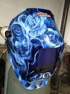 Custom Painted Welding Helmet - Painted by Mike Lavallee of Killer Paint…