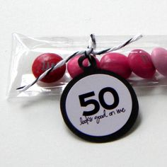 Birthday Party Favors, Candy Treat Bags - 50 Looks Good on Me, Set of Pink, Black 50th Birthday Party Favors, Candy Party Favors, 50th Party, Birthday Bash, Birthday Celebration, Birthday Parties, Birthday Ideas, Fifty Birthday, Happy Birthday
