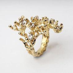 Reef Gold Organic Gemstone Statement Ring | Arosha Luigi Taglia