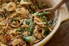 The Best Green Bean Casserole! You make your own cream of mushroom ...