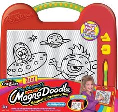 Cra Z Art 2-in-1 Magna Doodle by Cra Z Art. $12.99. 2 in 1 Magnadoodle Activity Desk. Create designs using the included 2 magnetic stampers. Children love to draw and create and magnadoodle makes it easy and fun with no mess. Drawing is fun with no mess. Set Includes a two sided Portable Desk, Dry Erase 7 page Booklet, 2 magnetic Stampers,and 2 Dry Erase Markers and erasers. From the Manufacturer                The Original Magnadoodle Magnetic Drawing Toy makes drawing fun and e...