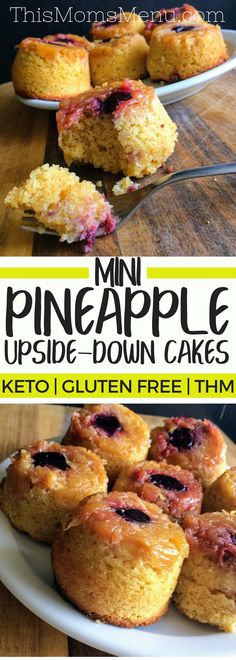 Moderate Carb: If you close your eyes while eating these Pineapple Upside Down Cupcakes, you might just begin to hear the sweet sounds of a ukulele playing in the background. Something about the flavor of sweet pineapple and cherries, makes me feel like I am sitting on a tropical beach somewhere, completely care free. It's like a vacation all wrapped up in one little cake. #keto #ketodessert #lowcarb #glutenFree