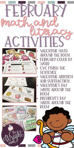 This set contains everything you need for successful group and/or independent work stations in your classroom. Full of Valentines day, President's day, and other fun activities, you and your students will surely love this! Perfect for any Kindergarten or First Grade classroom!!!!