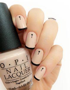 French Masala: Using Don't Preztel My Bottons & Black Onyx by OPI