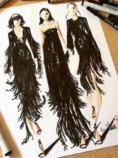 @michaelkors Fall 2017 -#NYFashionWeek by @pepemunozillustrations| Be Inspirational ❥|Mz. Manerz: Being well dressed is a beautiful form of confidence, happiness & politeness